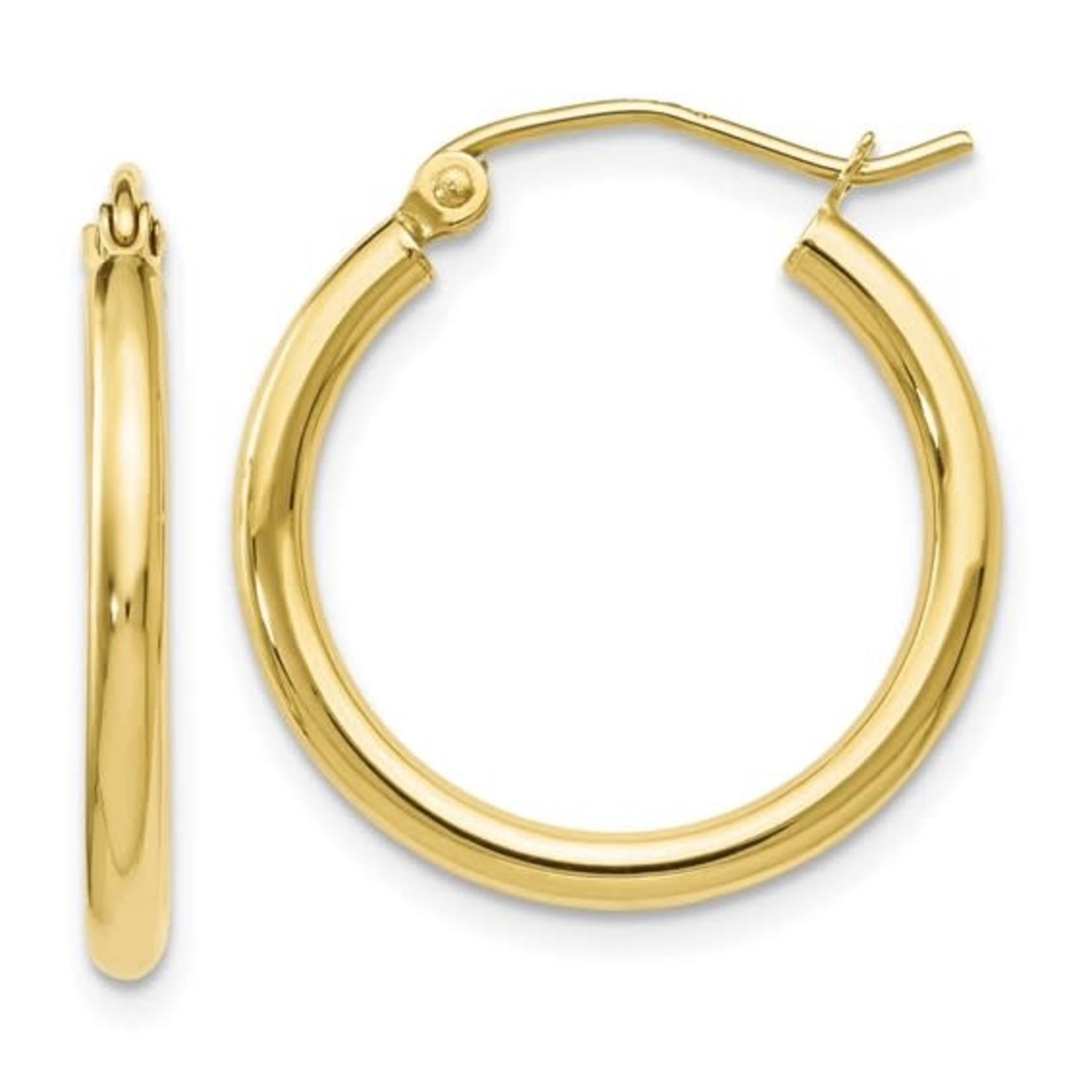 This Is Life Polished Hinged Hoop Earrings