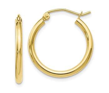 Polished Hinged Hoop Earrings