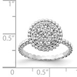 This Is Life Sterling Silver CZ Round Ring