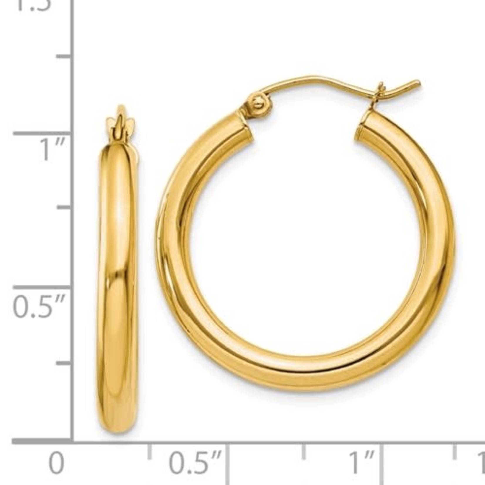 This Is Life Beautiful Hoop Earrings - 14 kty