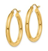 This Is Life Beautiful Hoop Earrings - 14 kty