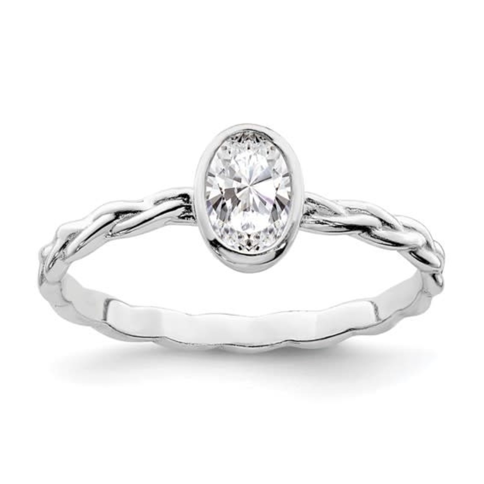 This Is Life Oval With A Twist Sterling Silver Ring