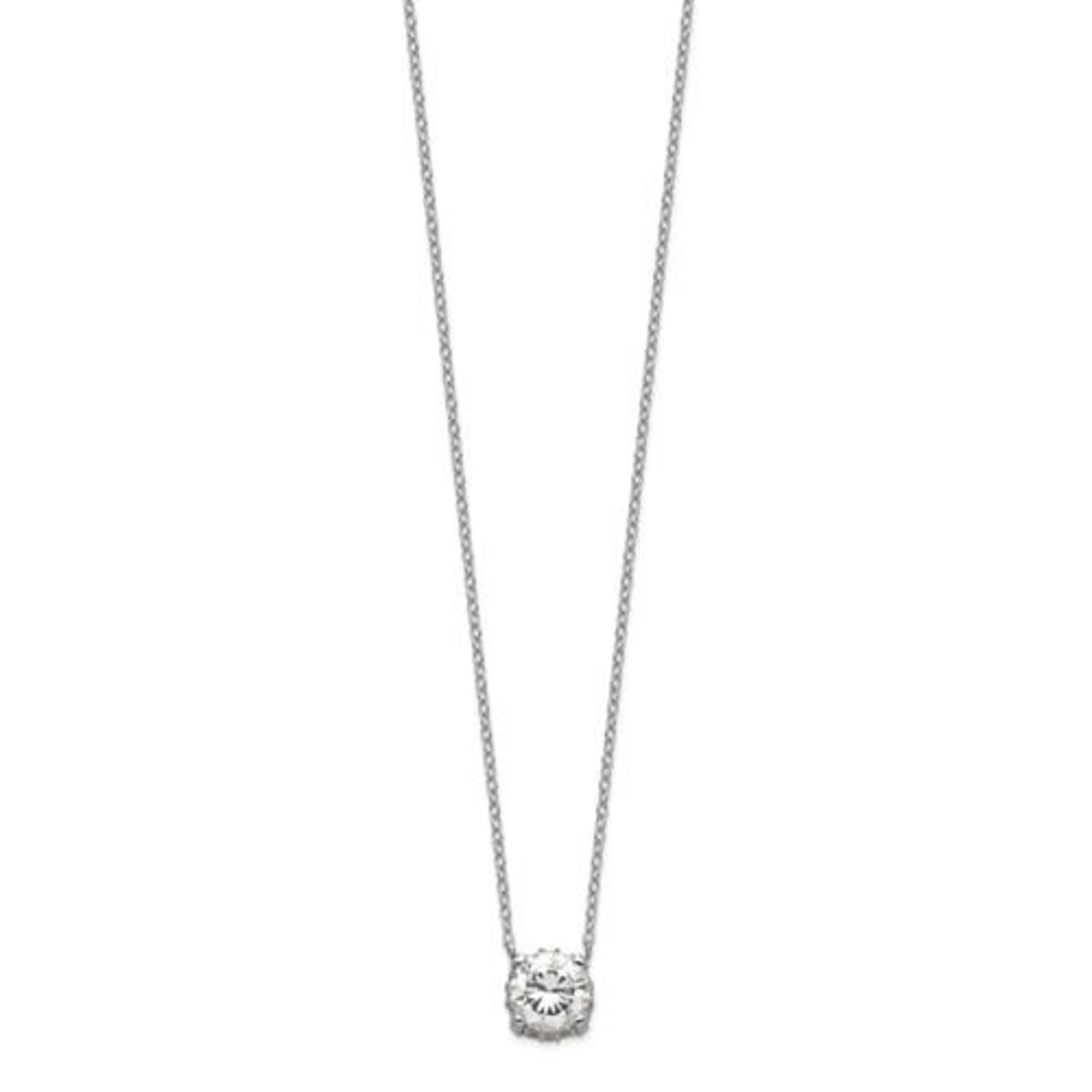 This Is Life Add Some Glitz Sterling Silver Necklace
