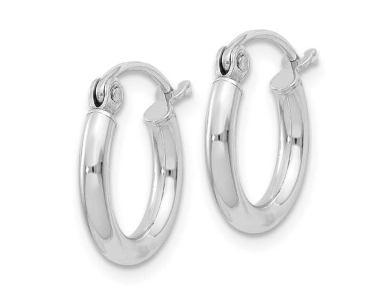 This Is Life Tiny As Can Be Sterling Silver Hoops