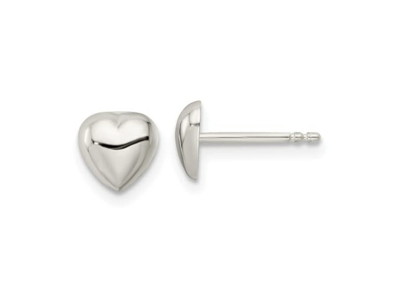 This Is Life Full Heart Sterling Silver Earrings