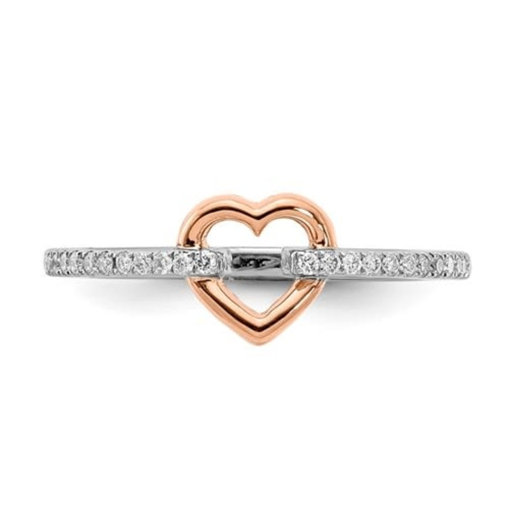 This Is Life Hold On To My Heart Sterling Silver With CZ Ring