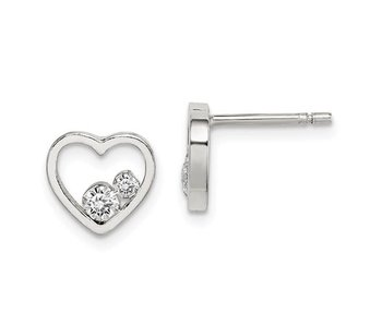 Just The Two Of Us CZ Sterling Silver Earrings