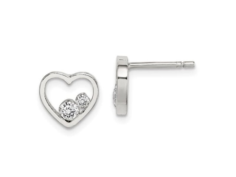 This Is Life Just The Two Of Us CZ Sterling Silver Earrings