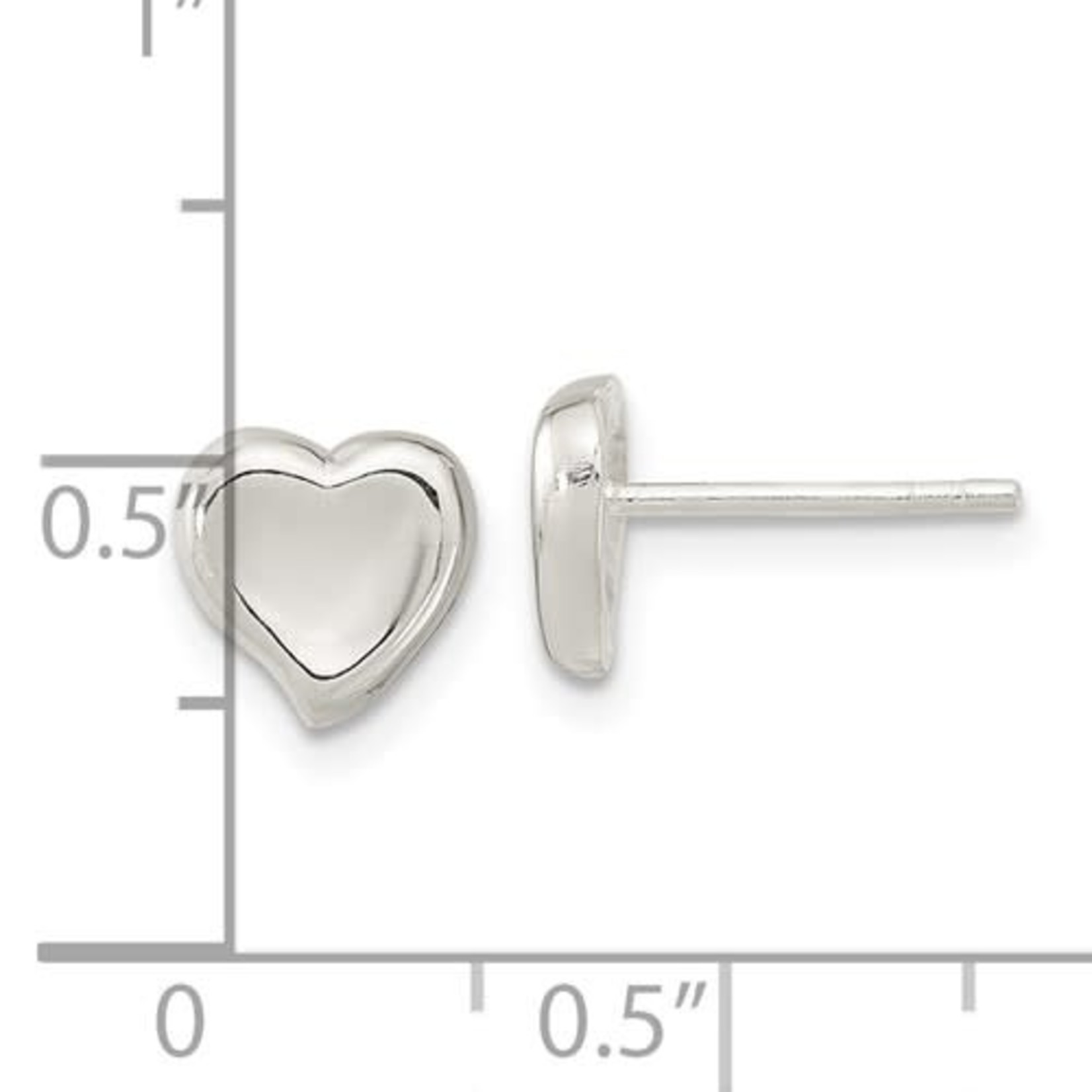 This Is Life Perfect Heart Sterling Silver Earrings