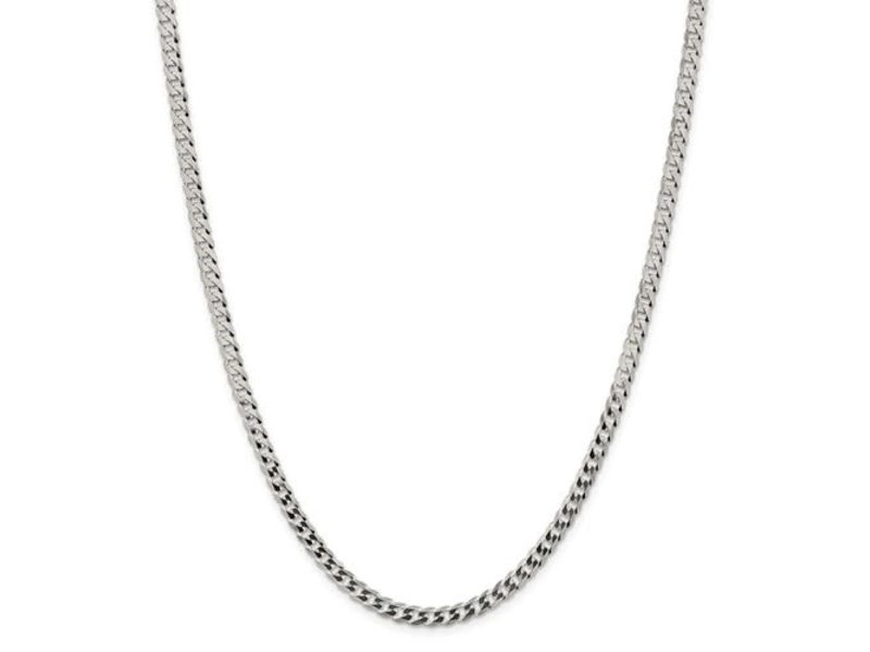 This Is Life Men's Curb Chain Sterling Silver  - 22""