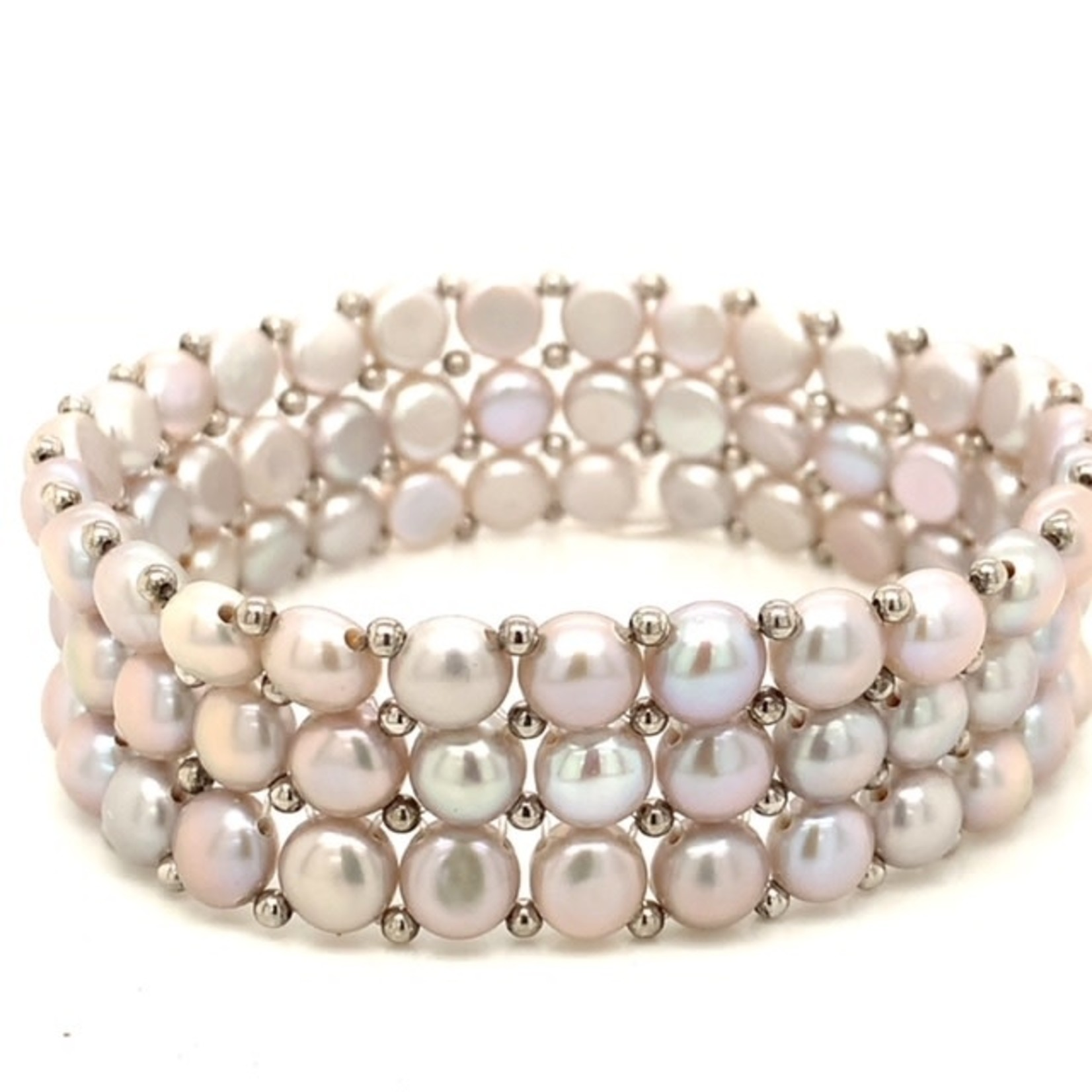 This Is Life 3 Row Freshwater Pearl Bracelet