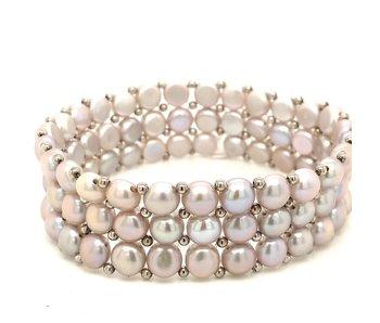 3 Row Freshwater Pearl Bracelet