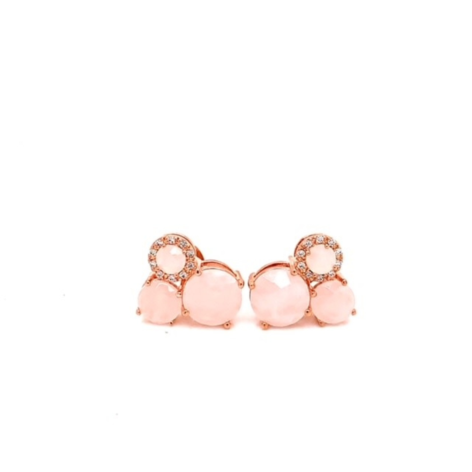 This Is Life 3 Stone Bronzallure Earrings