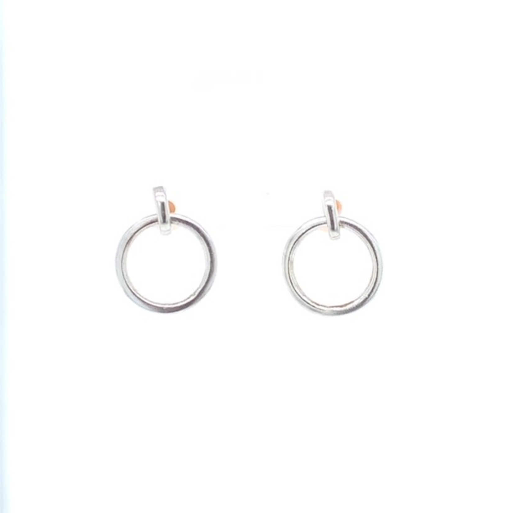 This Is Life Classic  Circle Dangle Earrings - Sterling Silver