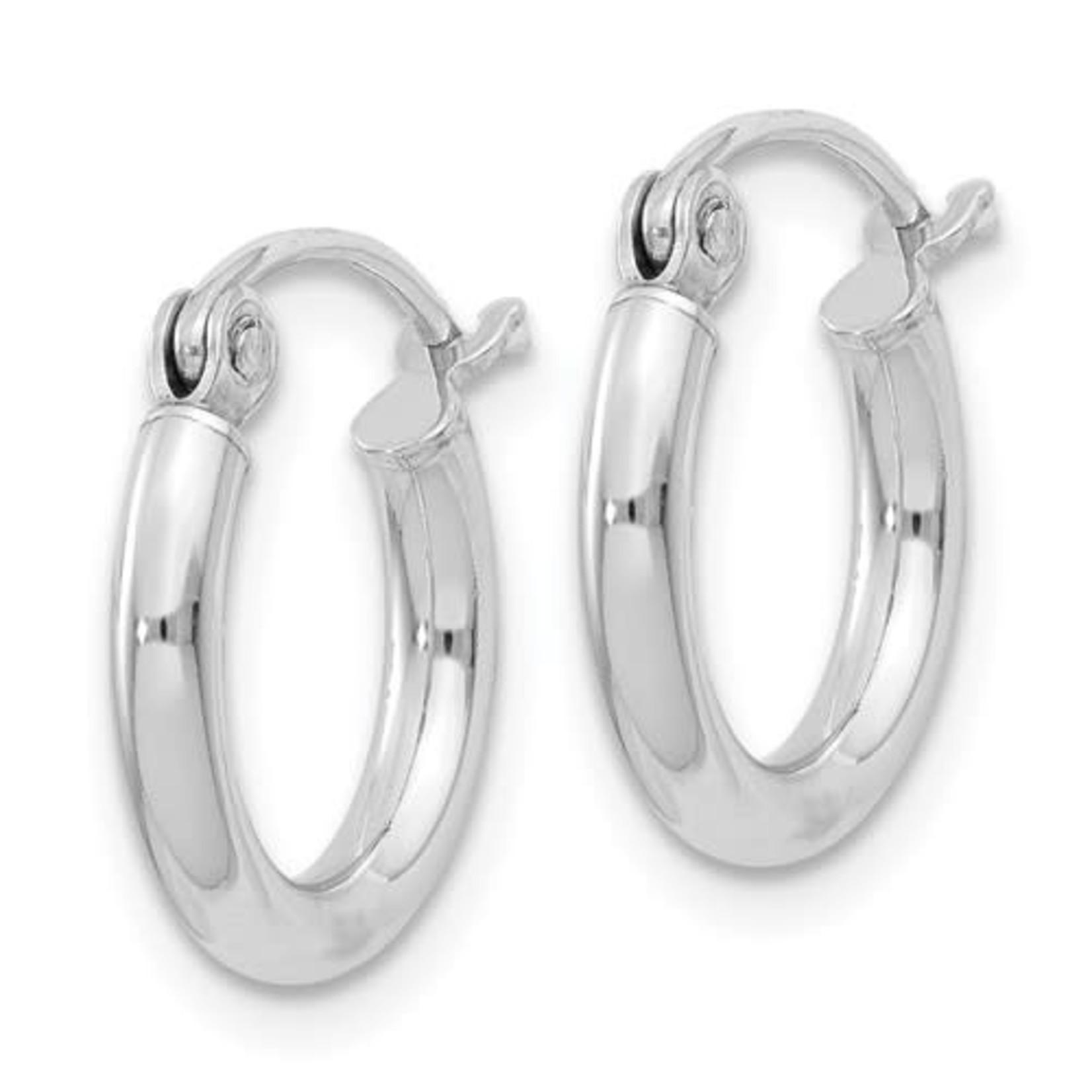 This Is Life Tube Hoop Earrings - 2 mm Sterling Silver