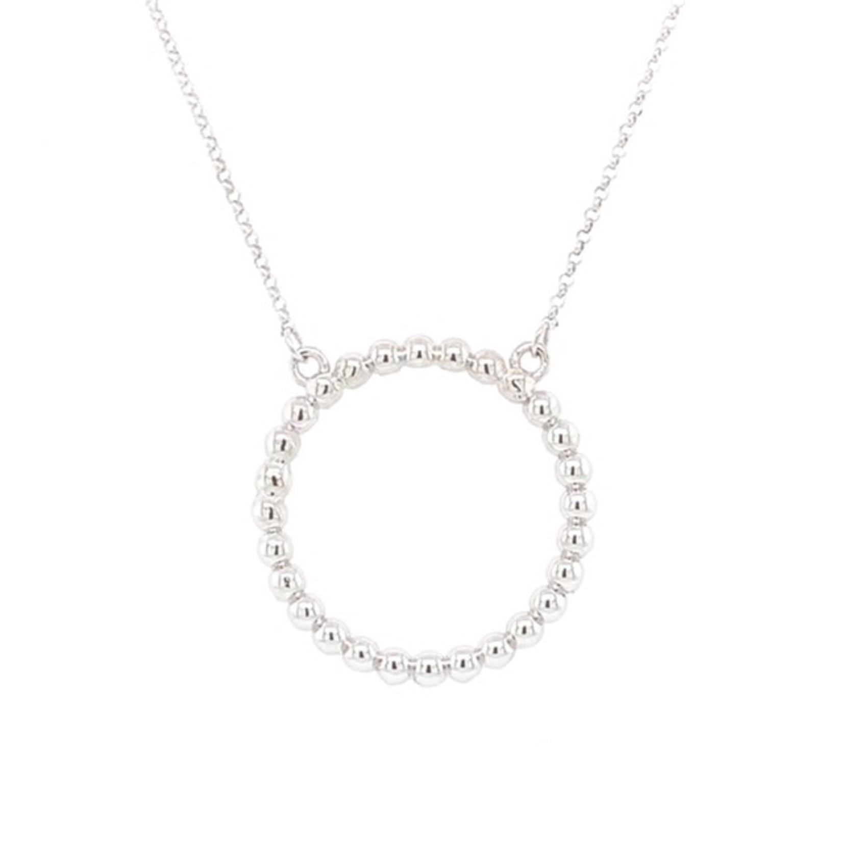 On The Edge Bumpy Road Necklace 14kt White Gold