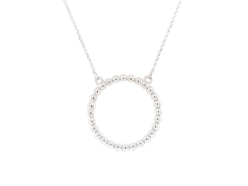 On The Edge On The Edge Bumpy Road Necklace 14KT WG