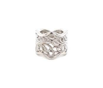 Whirlwind Sterling Silver Wide Ring OTE