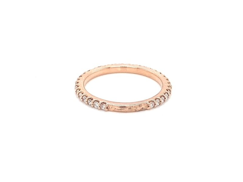 On The Edge Stand By Me Diamond Band 14kt RG
