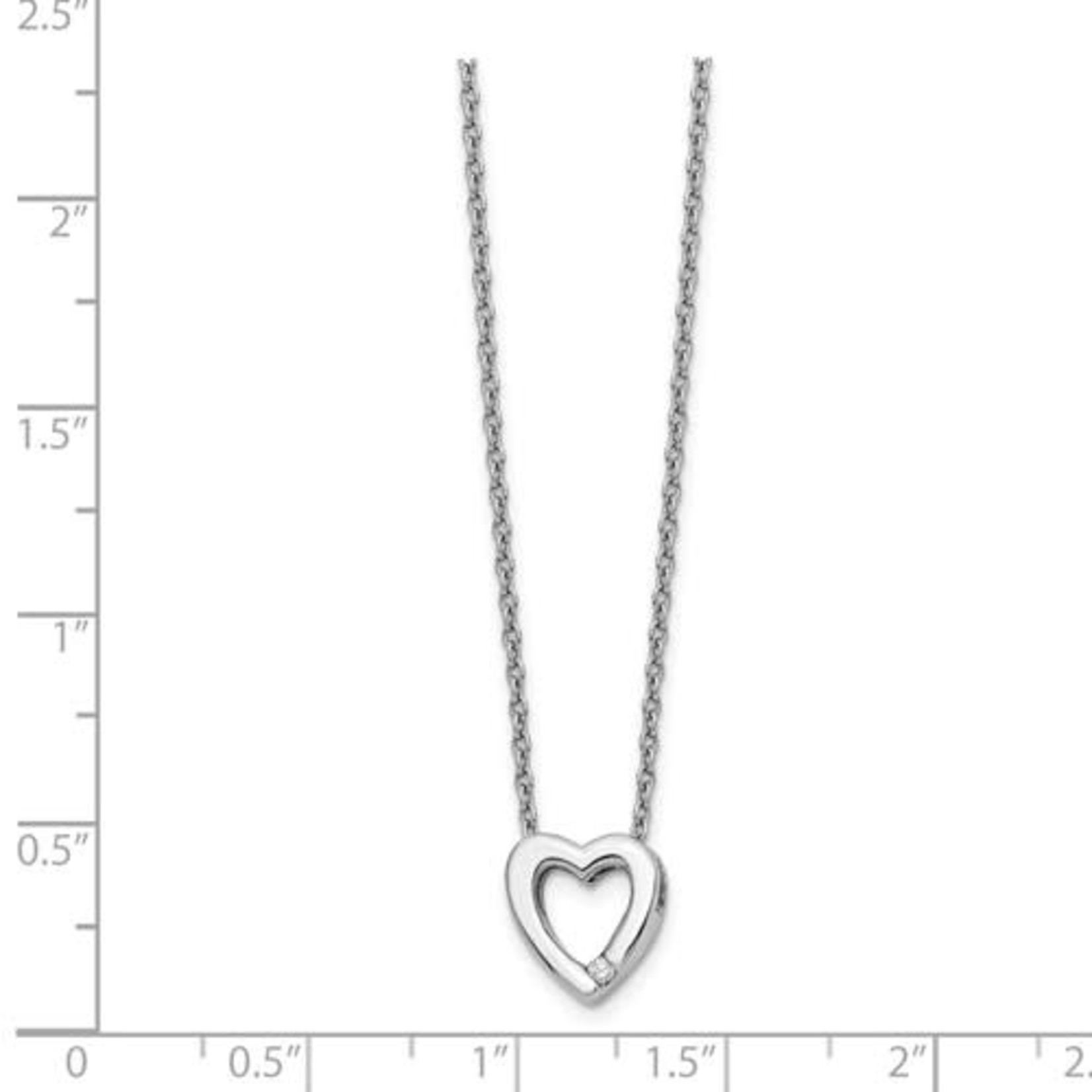 This Is Life All My Love Diamond Sterling Silver Pendant