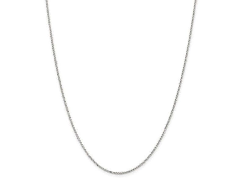 """This Is Life Wheat Chain  - 1.5mm Sterling Silver 26"""""""