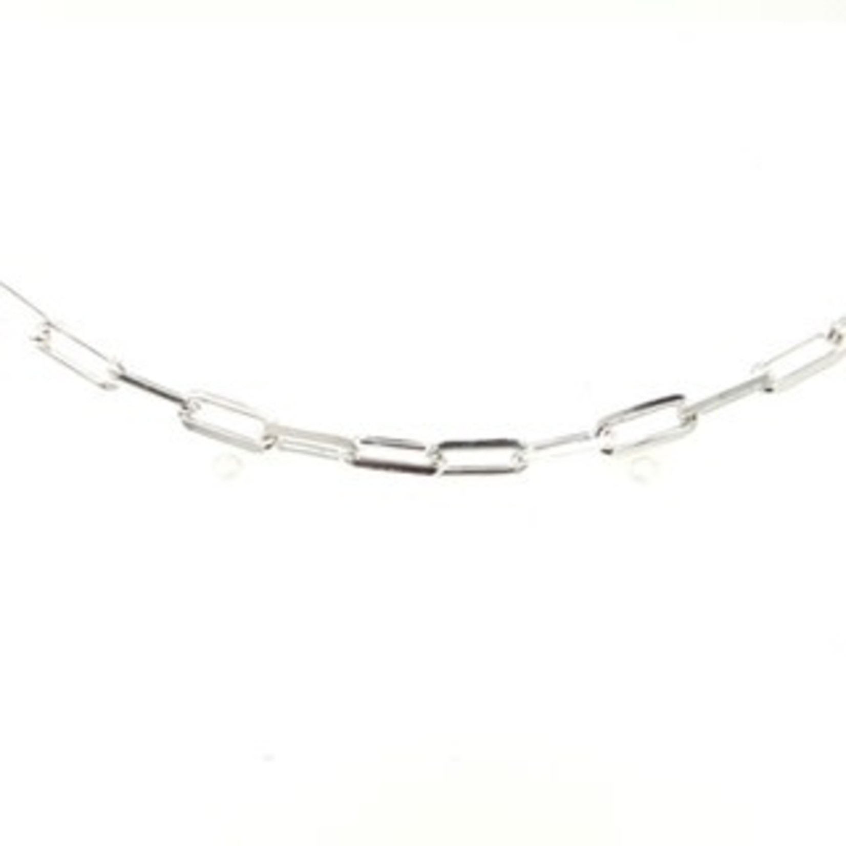 """This Is Life Paper Link Large Bracelet - Sterling Silver 8"""""""