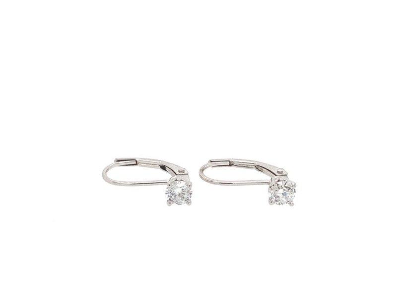 On The Edge Diamond Earrings On Leverbacks