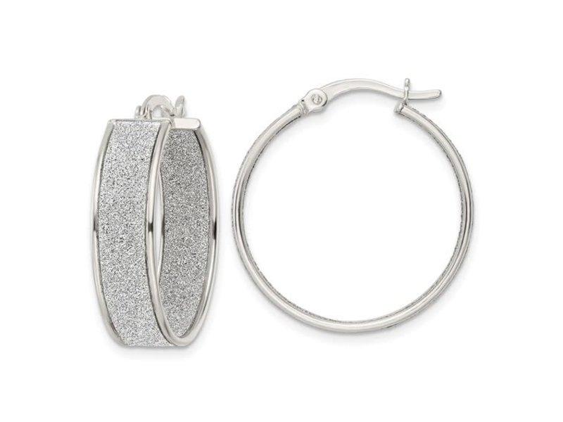This Is Life Shimmering Hoops - Sterling Silver Hoop Earrings