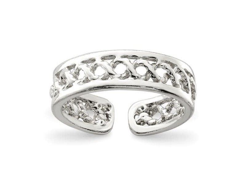 This Is Life Sterling Silver Solid Toe Ring