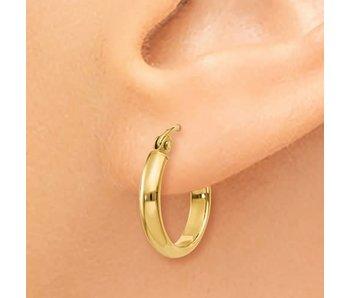 14k Polished 15mm Hoop Earring