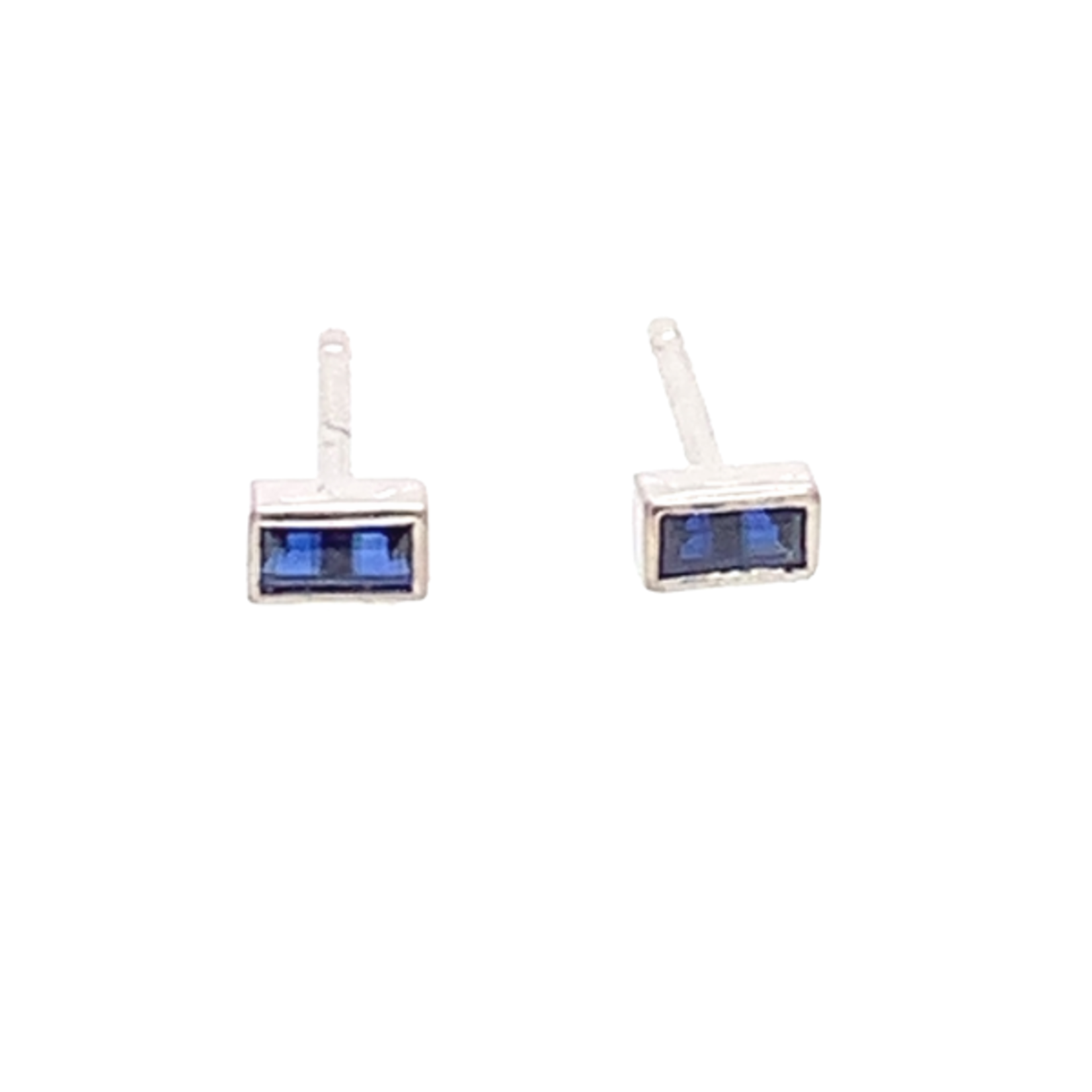 On The Edge Touch of Colour Earrings - Blue Sapphire