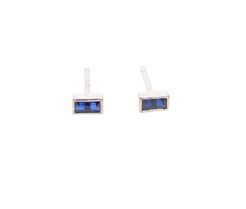 Touch of Colour Earrings - Blue Sapphire