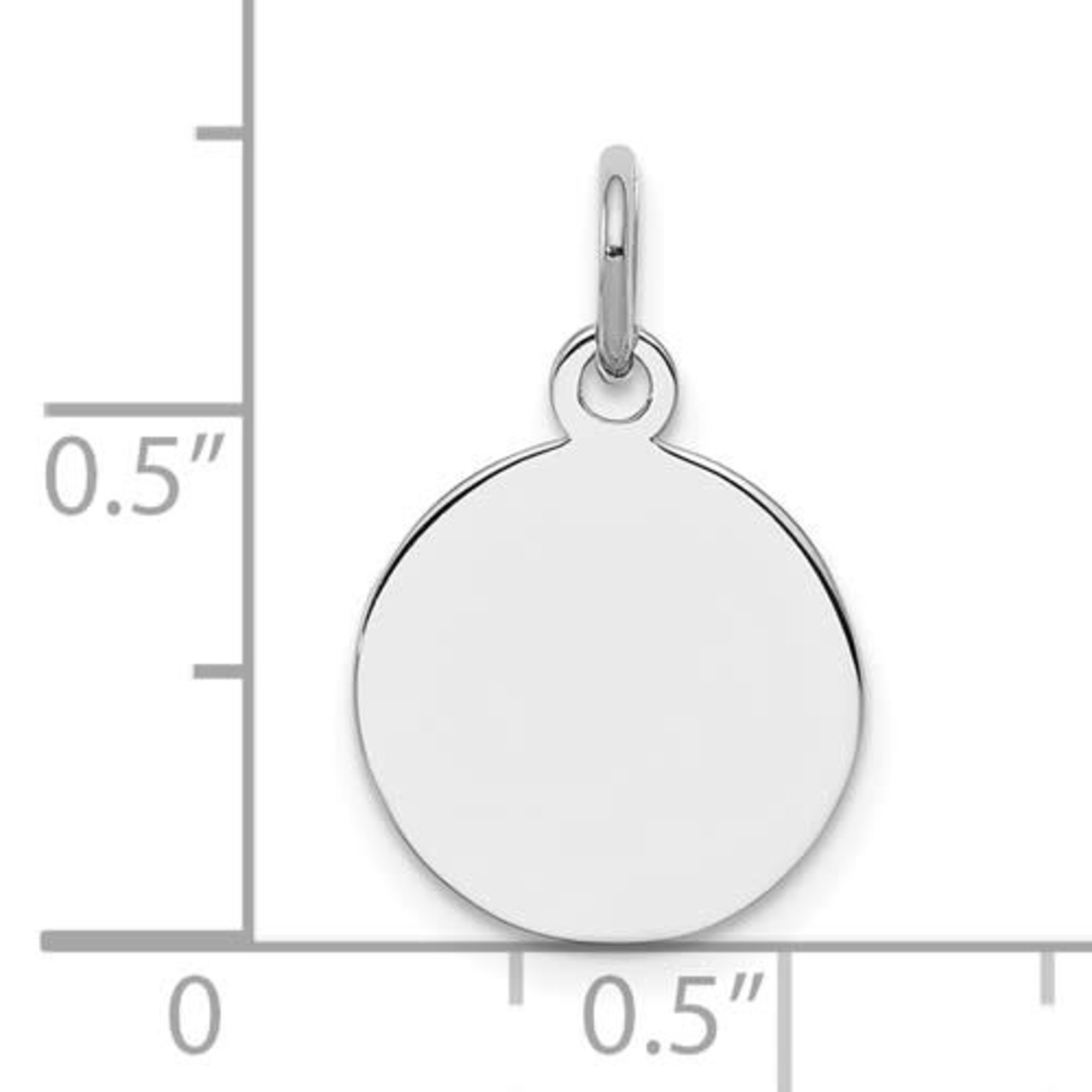 This Is Life SS Engravable Round Polished Disc Charm/Pendant