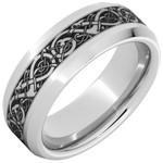 Serinium Wedding Bands Serinium® Beveled Edge Band with Viking Laser Engraving
