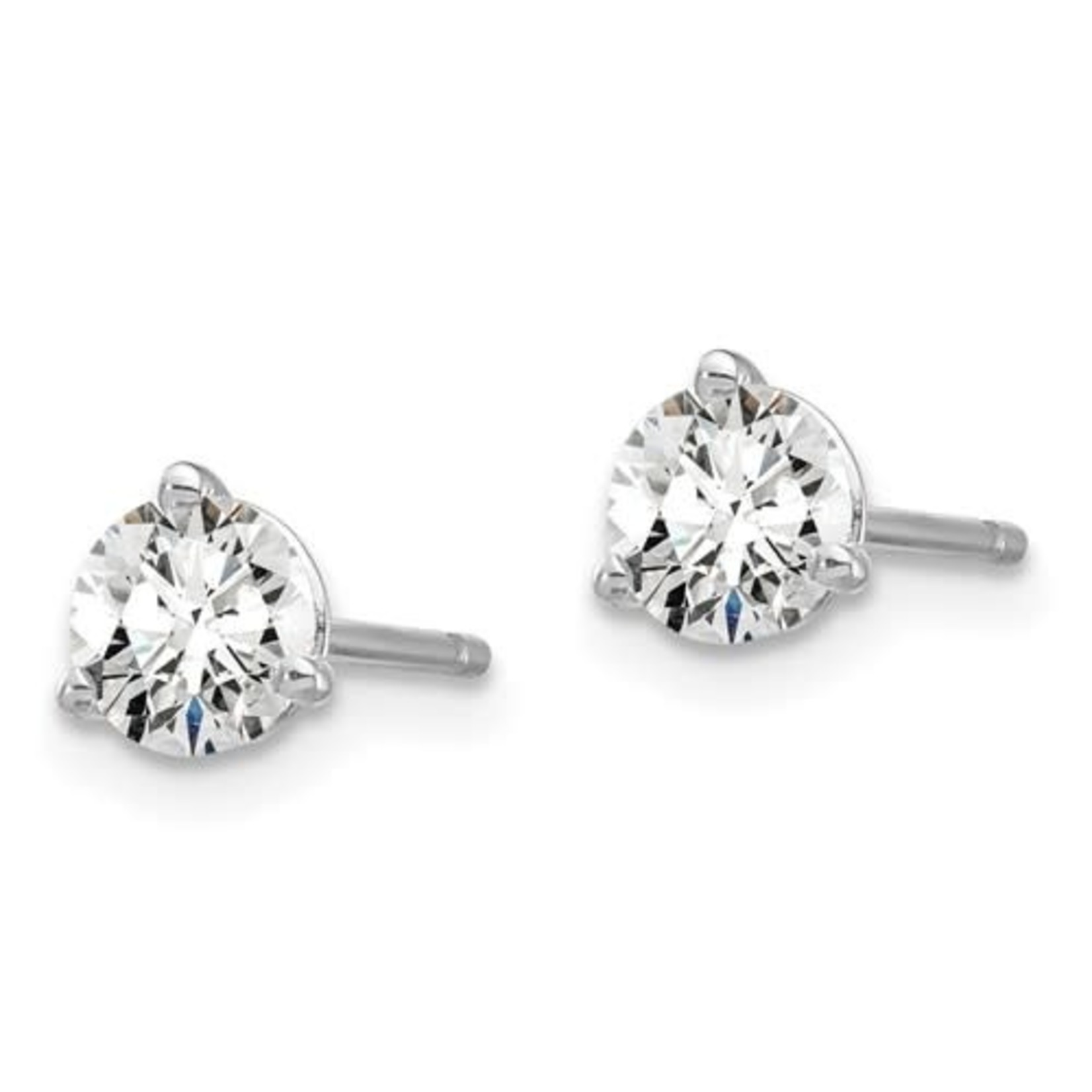 On The Edge Diamond Earrings  - 0.75ctw