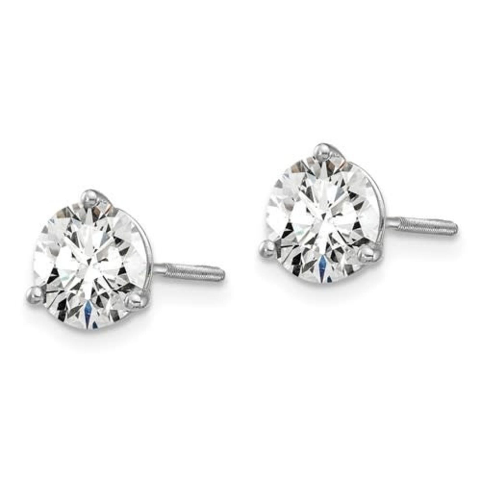 On The Edge Diamond Earrings - 1.50ctw