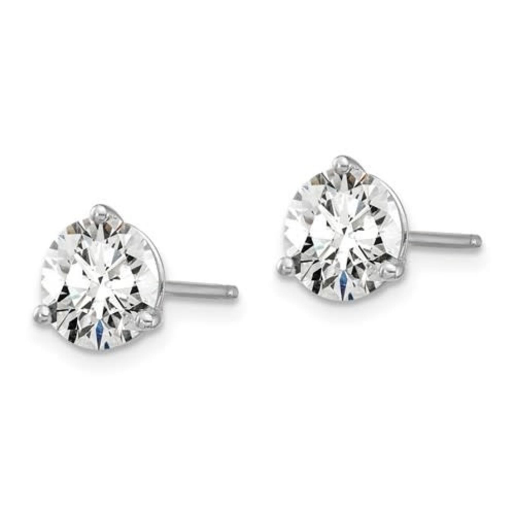 On The Edge Diamond Earrings - 2.0ctw