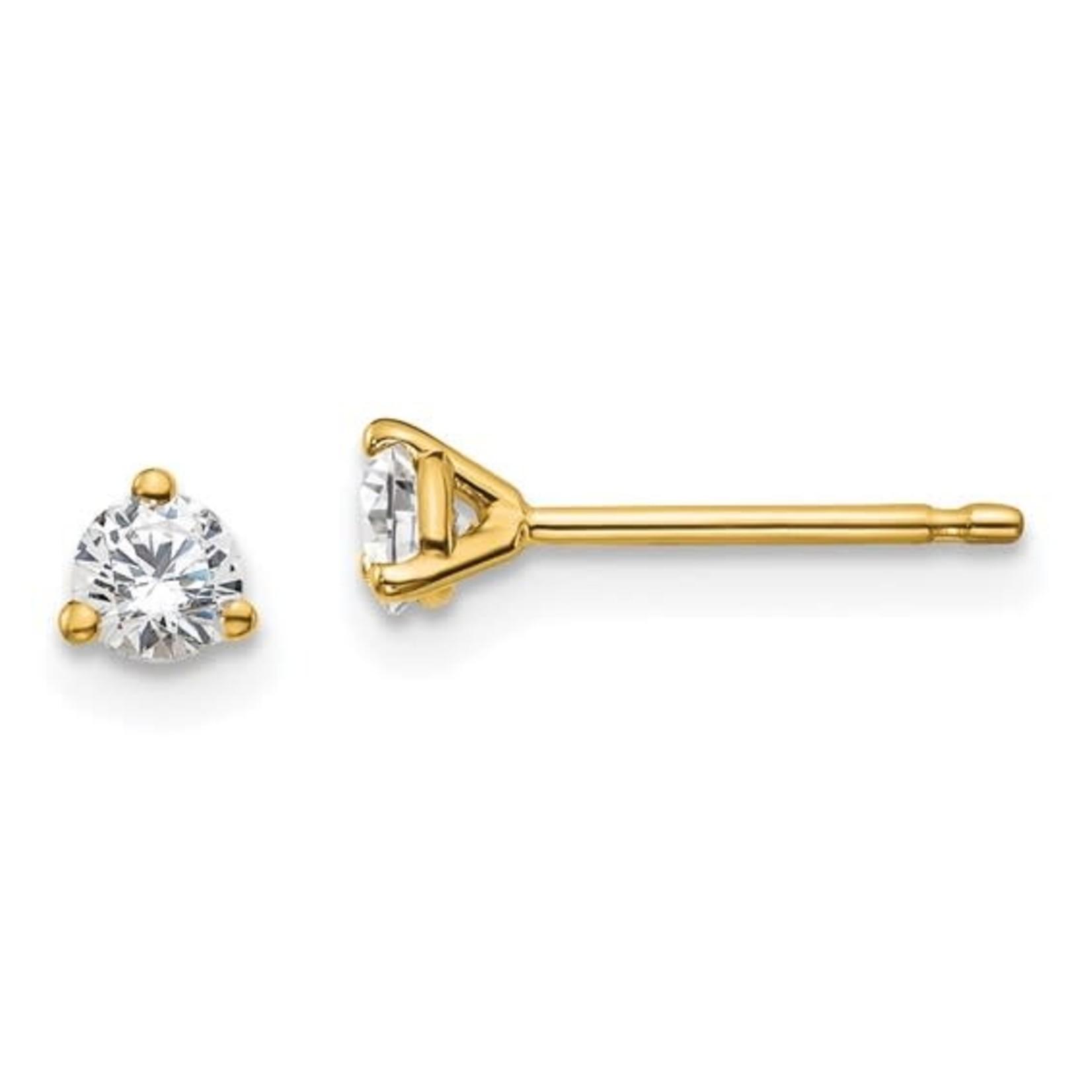 On The Edge Diamond Earrings  - 0.25ctw