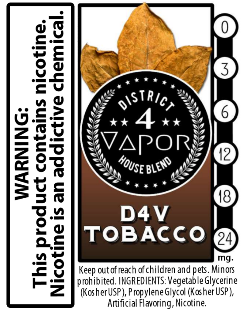 District 4 Vapor D4V Tobacco