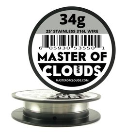MASTER OF CLOUDS Master of Clouds 34G STAINLESS [316L] 25FT