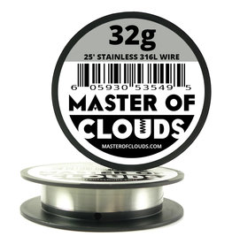 MASTER OF CLOUDS Master of Clouds 32G STAINLESS [316L] 25FT