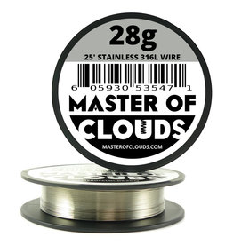 MASTER OF CLOUDS Master of Clouds 28G STAINLESS [316L] 25FT
