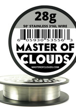 MASTER OF CLOUDS Master of Clouds 28G STAINLESS [316L] 50FT