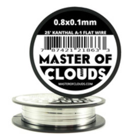 MASTER OF CLOUDS Master of Clouds 0.8X0.1MM KANTHAL [A1] 25FT