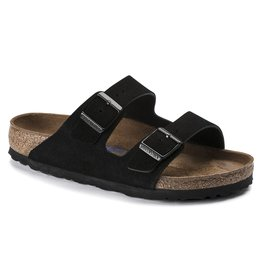 BIRKENSTOCK ARIZONA SOFT FOOTBED SUEDE LEATHER-BLACK SUEDE