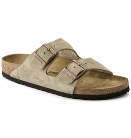 BIRKENSTOCK ARIZONA SUEDE LEATHER-TAUPE