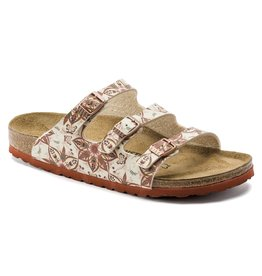 BIRKENSTOCK FLORIDA BIRKO-FLOR-BOHO FLOWERS EARTH RED
