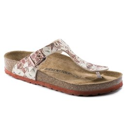 BIRKENSTOCK GIZEH SOFT FOOTBED BIRKO-FLOR-BOHO FLOWERS-EARTH RED