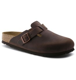 BIRKENSTOCK BOSTON SOFT FOOTBED OILED LEATHER-HABANA