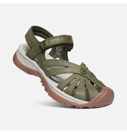 KEEN WOMEN'S ROSE SANDAL LEATHER-FOREST